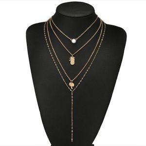 🌞SUMMER SALE🌞 Gold multilayer pineapple necklace